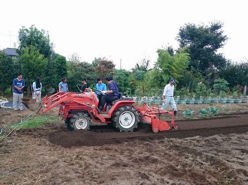 農耕機械の運転